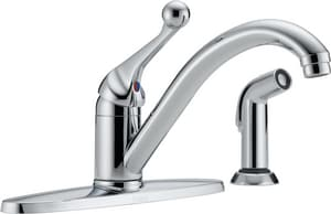 Delta Faucet Traditional® 1.8 gpm 1-Hole Kitchen with Spray D400BHDST