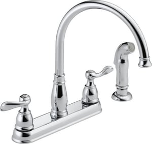 Delta Faucet Windemere® 1.8 gpm Double Lever Handle Kitchen Faucet D21996LF