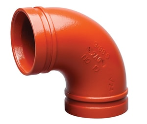 Victaulic Grooved Painted 90 Degree Elbow VF0010P00