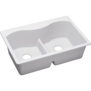 Elkay Classic™ 2-Bowl Topmount Sink with Divide EELGLB33220