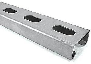 1-5/8 x 3-1/4 in. x 20 ft. 12 Gauge Galvanized Half Slot Strut GST7880S12Z2S2