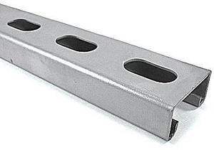 1-5/8 x 1-3/8 in. x 20 ft. 12 Gauge Galvanized Half Slot Strut GST7885S12Z2S2