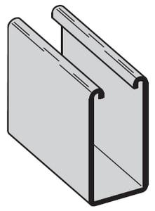 1-5/8 x 1-5/8 in. 12 ga Galvanized Solid Strut GST7882S12ZSD