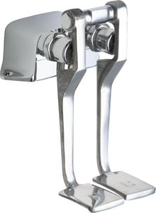Chicago Faucet Hot and Cold Water Pedal Box with Long Pedals C625LPAB