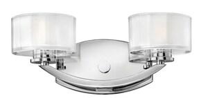 Hinkley Lighting Meridian 60W 2-Light Bath Vanity Fixture H5592