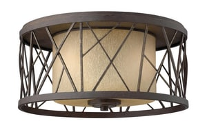 Fredrick Ramond 75W 2-Light Medium Ceiling Light in Oil Rubbed Bronze FFR41611ORB