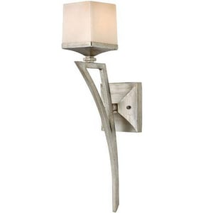 Fredrick Ramond San Simeon 75 W 1-Light Medium Wall Sconce in Silver Leaf FFR49190SLF