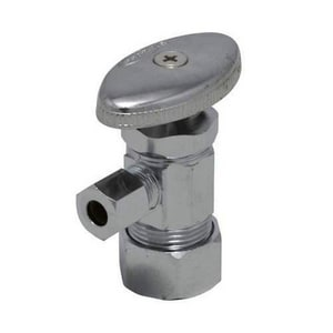 PROFLO® 5/8 in. OD x 1/4 in. OD Compact Angle Stop Chrome Plated PFXAC31C