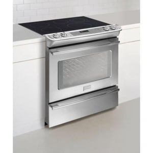 Frigidaire 30 in. 4.2 cf Slide-In Electric Range Cleanout in Stainless Steel FFPES3085KF