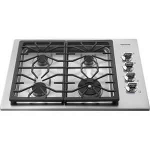 Frigidaire 30 in. Gas Heavy Duty Grate Cooktop in Stainless Steel FFPGC3085KS