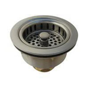 Braxton Harris Brass Duo Basket Strainer in Stainless Steel BDBSMSS