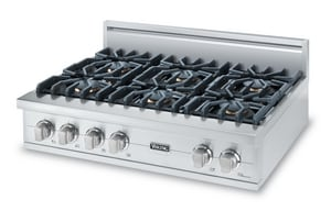 Viking Range 36 in. 6-Burner Gas Rangetop VVGRT5366BSS