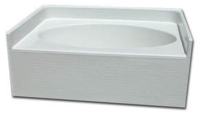 Spurlin Industries 60 x 42 in. Bathtub with Right-Hand Drain in White SNFTO6042RWH