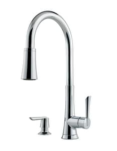 Pfister Mystique™ 1.75 gpm 8 in. Single-Handle Deck Mount Kitchen Sink Faucet 360° Swivel High Arc Pull Down Spout Threaded Connection PGT529MD