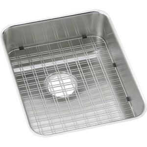 Elkay Gourmet Lustertone® 1-Bowl Undermount Kitchen Sink with Rear Center Drain EELUHWS1418