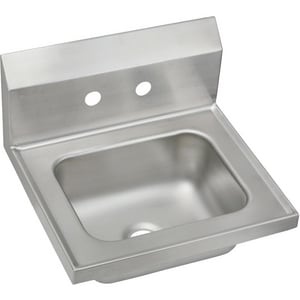 Stainless Wall Mount Sink : Elkay 2-Hole Stainless Steel Wall Mount Sink - CHSB17162 - Ferguson