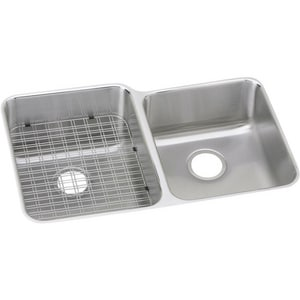 Elkay Gourmet® 2-Bowl Undermount Rectangular Sink EELUHWS3120R
