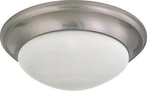Nuvo Lighting 3 Light 60W 17 in. Flush Mount Twist & Lock With Frosted Shade N603273
