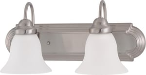 Nuvo Lighting Ballerina 100W 2-Light Vanity Light Fixture in Brushed Nickel N603278