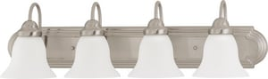 Nuvo Lighting Ballerina 30 in. 4-Light Vanity with Frosted White Glass in Brushed Nickel N603281
