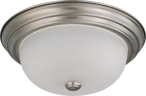 Nuvo Lighting 2-Light 13 W Flush Mount Ceiling Fixture with Frosted White Gl N603312