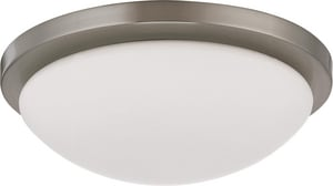 Nuvo Lighting Button 11 in. 18 W 1-Light Button Energy Smart Flush Mount with GU24 Included N602941