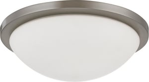 Nuvo Lighting Button 2 Light 13 W Dome Flush Mount Lighting Fixture in Brushed Nickel N602944
