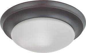 Nuvo Lighting 12W 1-Light Twist and Lock Dome Small Flushmount Ceiling Light N603175