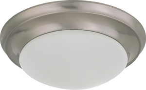 Nuvo Lighting 1 Light 60W 11-1/2 in. Flush Mount Twist & Lock With Frosted Shade N603271