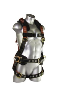 Guardian Fall Protection Construction Harness with Side D-Ring in Black|Red G11173
