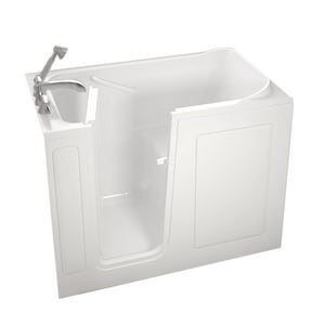 Safety Tubs 38 x 48 x 28 in. 45 gal Gelcoat Freestanding Walk-In Soaking Bathtub with Left Hand Drain SSS4828LS