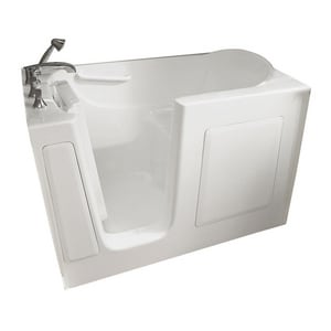 Safety Tubs 38 x 54 x 30 in. 75 gal Gelcoat Freestanding Walk-In Bathtub with Left Hand Drain SSS6030LS