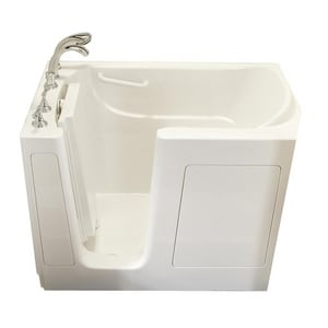 Safety Tubs 38 x 54 x 38 in. Gelcoat Walk-In Dual Massage Tub with Left Hand Drain SSS5430LD