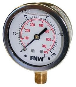 FNW Liquid Filler Pressure Gauge FNWLFG0