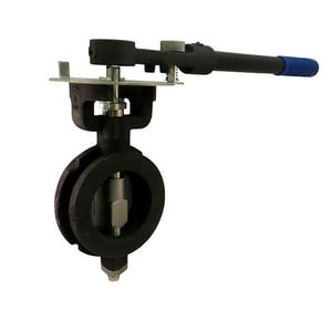 Milwaukee Valve 150 psi Carbon Steel Wafer High Performance Butterfly Valve Lever Operator MHP1WCS4212
