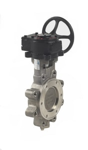 Milwaukee Valve HP Series 316 SS Stainless Steel RPTFE Gear Operator Handle Butterfly Valve MHP1LSS4213