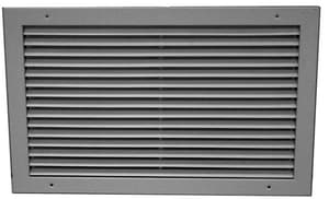 PROSELECT® 20 x 8 in. Horizontal Blade Return Grille White PSHFSW20X