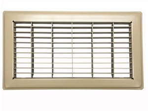PROSELECT® 8 x 20 in. Brown Floor Return Air Grille PSFRGBX20