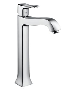 Hansgrohe Metris C Single Lever Handle Tall Lavatory Faucet with Pop-Up Assembly H31078