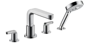 Hansgrohe Metris S 4-Hole Roman Tub Filler Set with Double Lever Handle H31448