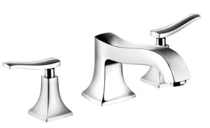 Hansgrohe Metris C 5.8 gpm 3-Hole Roman Tub Set Trim with Double Lever Handle H31313