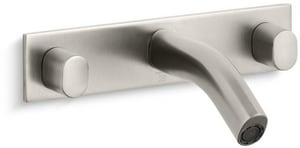 Kohler Oblo® 3-Hole Wall Mount Lavatory Faucet with Double Knob Handle K10087-9