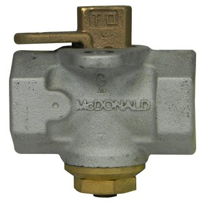 A.Y. McDonald 100 psi Galvanized Gas Meter Stop with Lockwing Tamperproof M10687G