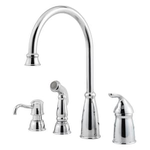 Pfister Avalon 2-1/4 in. 4-Hole Kitchen Faucet with Single Lever Handle PGT264CB