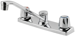 Pfister 5 in. 1.75 gpm 2-Hole Double Blade Handle Kitchen Faucet PG135100