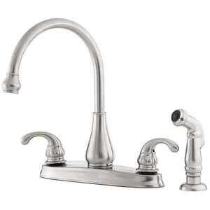 Pfister Treviso™ 2.2 gpm Double Lever Handle with Spray Faucet PGT364D