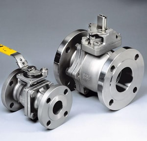 Flow-Tek 150 psi Stainless Steel Flanged Full Port RTFE Ball Valve FF152R103JRL