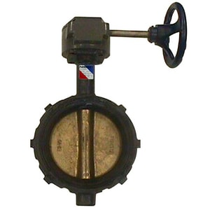 Nibco 200 psi Wafer Ductile Iron Butterfly Valve with Locking Lever Handle NWD20003