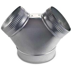 M & M Manufacturing 10 x 6 x 6 in. 30 ga Stub Reducer Wye SHMYS3010UU