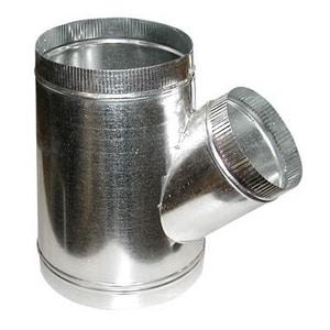 M & M Manufacturing 12 x 10 x 10 in. 28 ga Stub Reducer Wye SHMYS28121010